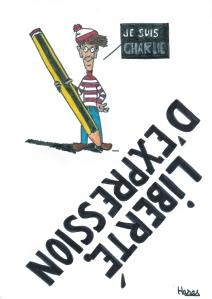 #jesuischarlie liberte d'expression dessin charlie hebdo